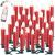 Lunartec Funkkerzen: FUNK-Weihnachtsbaum-LED-Kerzen mit Fernbedienung, 30er-Set, rot (Christbaumkerzen Funk) - 2