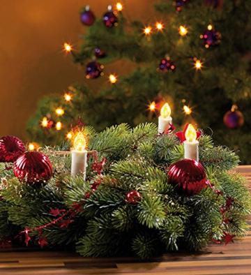 Lunartec LED Lichterkette Baum: LED-Weihnachtsbaum-Lichterkette mit 20 Kerzen, 3 Watt (Christbaum Lichterkette LED) - 3