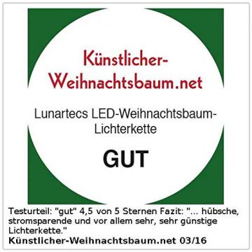 Lunartec LED Lichterkette Baum: LED-Weihnachtsbaum-Lichterkette mit 20 Kerzen, 3 Watt (Christbaum Lichterkette LED) - 5