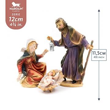 MAROLIN Heilige Familie (4-teiliges Set), zu 12cm Fig. (Kunststoff) - 2
