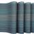 MEEO 6 X Platzdeckchen Platzsets Tischset Untersetzer Abwaschbar rutschfest (6er Set, Blau) - 2