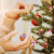 MELLIEX 24 Stück Weihnachten Miniatur Anhänger, Christbaumschmuck Harz Ornamente DIY Weihnachtsschmuck für Christbaum Adventskalender Puppenhaus Dekoration - 4