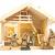 mgc24 Weihnachtskrippe Tischkrippe aus Holz, komplett mit 10 Krippenfiguren handbemalt, LED-Beleuchtung - 2