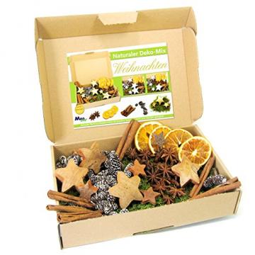 MGS SHOP Deko - Mix Weihnachten Bastelset kreative Idee Natur Dekoration mit Moos Anis Zimt Orangenscheibe Kokosstern (Natur) - 1