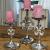 MichaelNoll 3er Set Kerzenständer Lilie Kerzenhalter Aluminium Silber Deko - Kerzenleuchter Modern für Stumpenkerzen - Tischdeko Hochzeit - Dekoration Wohnzimmer - H 23 cm / 28 cm / 32 cm - 2