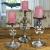 MichaelNoll 3er Set Kerzenständer Lilie Kerzenhalter Aluminium Silber Deko - Kerzenleuchter Modern für Stumpenkerzen - Tischdeko Hochzeit - Dekoration Wohnzimmer - H 23 cm / 28 cm / 32 cm - 1