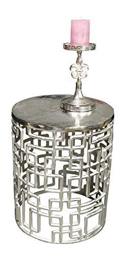 MichaelNoll 3er Set Kerzenständer Lilie Kerzenhalter Aluminium Silber Deko - Kerzenleuchter Modern für Stumpenkerzen - Tischdeko Hochzeit - Dekoration Wohnzimmer - H 23 cm / 28 cm / 32 cm - 9