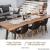 Miqio ® - Design Tischläufer aus Filz abwaschbar | Marken Label aus Echtleder | Tischband 150x40 cm | Skandinavische Deko - passend Tischsets, Platzsets, Tischdecken | grau meliert - 3