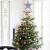 NICEXMAS 20cm Weihnachtsbaumspitzen Spitze für Weihnachtsbaum Silber Stern Baum Topper Exquisite Weihnachtsbaum Topper Dekor - 3