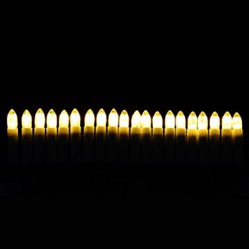 Nipach GmbH 20er LED Lichterkette Baumbeleuchtung Christbaumkerzen warmweiß Weihnachtsbaumkerzen Weihnachtsbaumlichter Weihnachtsbaumbeleuchtung Weihnachtsdeko grünes Kabel Xmas - 2