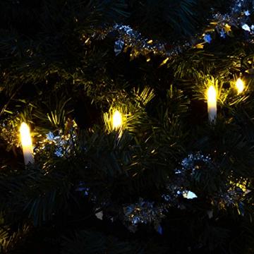 Nipach GmbH 20er LED Lichterkette Baumbeleuchtung Christbaumkerzen warmweiß Weihnachtsbaumkerzen Weihnachtsbaumlichter Weihnachtsbaumbeleuchtung Weihnachtsdeko grünes Kabel Xmas - 3