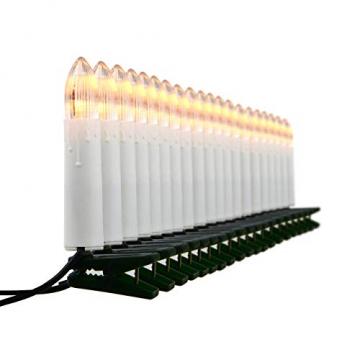 Nipach GmbH 20er LED Lichterkette Baumbeleuchtung Christbaumkerzen warmweiß Weihnachtsbaumkerzen Weihnachtsbaumlichter Weihnachtsbaumbeleuchtung Weihnachtsdeko grünes Kabel Xmas - 1