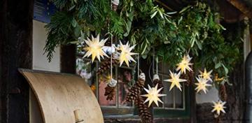 Novaliv Weihnachtsstern Dekostern | 8cm Weiss | nur Innen | LED Lampe mit Batteriefach | Weihnachtsdeko Stern beleuchtet - 6