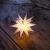 Novaliv Weihnachtsstern Dekostern | 8cm Weiss | nur Innen | LED Lampe mit Batteriefach | Weihnachtsdeko Stern beleuchtet - 1