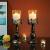 NUPTIO 2 Stück Vintage Kerzenhalter für Tische Kerzenhalter aus Schwarzer Säule mit Glasschirmabdeckung, Antike Hurrikan-Kerzenhalter-Anzeige für Die Hochzeitsdekoration Bei Kerzenlicht Zu Hause - 2