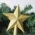 OULII Christbaumspitze Stern Verzierung Glitter Baum Stern Weihnachtsdekoration (Gold) - 4