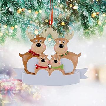 Outdoor Store Personalisierte Rentierfamilie, Christbaumschmuck, süße Weihnachtsmann-Winter-Geschenk-Jahr langlebig 2021 Familie Weihnachtsdekoration Set Kreatives Geschenk (Size : C) - 2