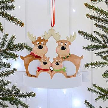 Outdoor Store Personalisierte Rentierfamilie, Christbaumschmuck, süße Weihnachtsmann-Winter-Geschenk-Jahr langlebig 2021 Familie Weihnachtsdekoration Set Kreatives Geschenk (Size : C) - 3