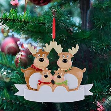 Outdoor Store Personalisierte Rentierfamilie, Christbaumschmuck, süße Weihnachtsmann-Winter-Geschenk-Jahr langlebig 2021 Familie Weihnachtsdekoration Set Kreatives Geschenk (Size : C) - 5