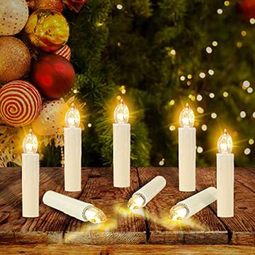 OZAVO 30er Weihnachten Kerzen LED Weihnachtskerzen Lichterkette Kabellos Baumkerzen Christbaumkerzen mit Fernbedienung - 5