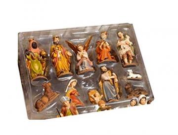 Paben–Komplette Figurensammlung für die Weihnachtskrippe, Größe Figuren: 7cm, 11Motive aus Kunstharz - 2