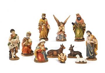 Paben–Komplette Figurensammlung für die Weihnachtskrippe, Größe Figuren: 7cm, 11Motive aus Kunstharz - 1