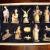 PREMIUM Krippenfiguren 12er SET handbemalt/GEBEIZT in edler Echtholz - Optik für Holz Weihnachtskrippe Zubehör, komplett MIT HOLZBOX KFK-Box - saubere Gesichtszüge, feine Mimik, handbemalte - 2