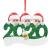 qiaoxiahe Weihnachtsferiendekoration Personalisierte Heimdekorationen Familie 2020 Besonderes Jahr Kleiner Mann mit Maske Anhänger für Christbaumschmuck an den Wänden an den Türverkleidungen der - 2