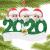 qiaoxiahe Weihnachtsferiendekoration Personalisierte Heimdekorationen Familie 2020 Besonderes Jahr Kleiner Mann mit Maske Anhänger für Christbaumschmuck an den Wänden an den Türverkleidungen der - 3