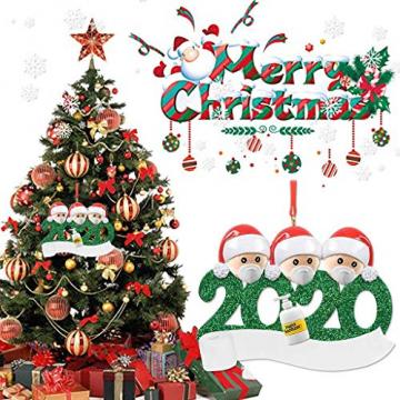 qiaoxiahe Weihnachtsferiendekoration Personalisierte Heimdekorationen Familie 2020 Besonderes Jahr Kleiner Mann mit Maske Anhänger für Christbaumschmuck an den Wänden an den Türverkleidungen der - 6