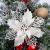Queta 12 Stück Christmas Glitter Poinsettia Weihnachtsbaum Ornament Weihnachtsblumen künstliche Blumen Christbaumschmuck Weihnachten Hochzeit Kränze Dekoration 16cm (Weiß) - 1