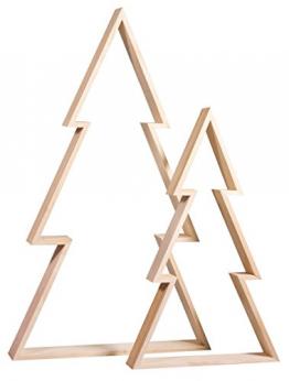 Rayher 62830000 Holz-Rahmen Weihnachtsbaum Set, 2 Holz-Bäume, 22x36 cm und 30x49,5 cm, Tannenbaum, weihnachtliche Dekoration - 1