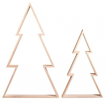 Rayher 62830000 Holz-Rahmen Weihnachtsbaum Set, 2 Holz-Bäume, 22x36 cm und 30x49,5 cm, Tannenbaum, weihnachtliche Dekoration - 2