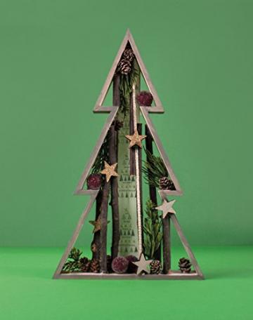 Rayher 62830000 Holz-Rahmen Weihnachtsbaum Set, 2 Holz-Bäume, 22x36 cm und 30x49,5 cm, Tannenbaum, weihnachtliche Dekoration - 4