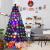 RELAX4LIFE 150/180/210cm Künstlicher Weihnachtsbaum, Tannenbaum mit LED-Leuchten & Glasfasern (8 Beleuchtungsmodi & 6 Farben), Christbaum mit Metallständer & Sternspitze, Christbaum grün (180cm) - 2