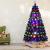 RELAX4LIFE 150/180/210cm Künstlicher Weihnachtsbaum, Tannenbaum mit LED-Leuchten & Glasfasern (8 Beleuchtungsmodi & 6 Farben), Christbaum mit Metallständer & Sternspitze, Christbaum grün (180cm) - 4