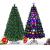 RELAX4LIFE 150/180/210cm Künstlicher Weihnachtsbaum, Tannenbaum mit LED-Leuchten & Glasfasern (8 Beleuchtungsmodi & 6 Farben), Christbaum mit Metallständer & Sternspitze, Christbaum grün (180cm) - 1