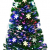 RELAX4LIFE Künstlicher Weihnachtsbaum, Christbaum mit LEDs & Schneeflocke & Sternspitze, Kunstbaum Farbiger Glasfaser-Farbwechsler, Tannenbaum für Büro & Geschäften & Zuhause, PVC, grün (120 cm) - 1