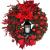 RMBLYfeiye Weihnachtskranz,Weihnachtsmann Türkranz Adventskranz Schneemann Weihnachten Kranz Dekokranz Hängende Tür Wand Verzierung Weihnachtskugelnkranz Fenster Dekoration Weihnachts-Party-Zubehör - 2
