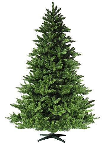 RS Trade HXT 19001 künstlicher Weihnachtsbaum 150 cm (Ø ca. 105 cm) mit 872 Spitzen und Schnellaufbau Klapp-Schirmsystem, schwer entflammbar, unechter Tannenbaum inkl. Metall Christbaum Ständer - 1