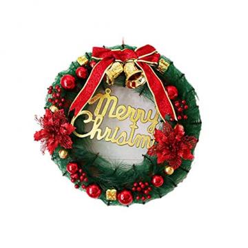 Ruier-hui Weihnachtskranz Weihnachten Türkranz Weihnachten Dekoration Weihnachtsgirlande Kränze für Deko, Weihnachten, Advent, Türkranz Conventional - 1
