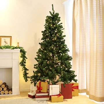SALCAR Premium Weihnachtsbaum 180cm - Künstlicher Baum - Keine störenden Tannennadeln - Geruchslos - Christbaum - Dunkelgrün - 1,8m - 2