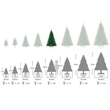 SALCAR Premium Weihnachtsbaum 180cm - Künstlicher Baum - Keine störenden Tannennadeln - Geruchslos - Christbaum - Dunkelgrün - 1,8m - 3