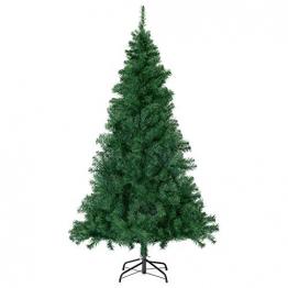 SALCAR Premium Weihnachtsbaum 180cm - Künstlicher Baum - Keine störenden Tannennadeln - Geruchslos - Christbaum - Dunkelgrün - 1,8m - 1