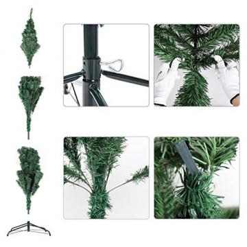 SALCAR Premium Weihnachtsbaum 180cm - Künstlicher Baum - Keine störenden Tannennadeln - Geruchslos - Christbaum - Dunkelgrün - 1,8m - 5