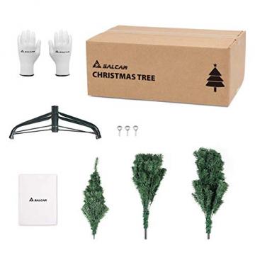 SALCAR Premium Weihnachtsbaum 180cm - Künstlicher Baum - Keine störenden Tannennadeln - Geruchslos - Christbaum - Dunkelgrün - 1,8m - 7