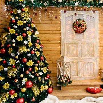 SALCAR Weihnachtsbaum künstlich 270cm mit 1468 Spitzen, Tannenbaum künstlich Schnellaufbau inkl. Christbaum-Ständer, Weihnachtsdeko - grün 2,7m - 2