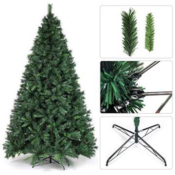 SALCAR Weihnachtsbaum künstlich 270cm mit 1468 Spitzen, Tannenbaum künstlich Schnellaufbau inkl. Christbaum-Ständer, Weihnachtsdeko - grün 2,7m - 4