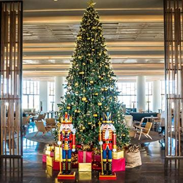 SALCAR Weihnachtskugeln Set Gold,Christbaumkugeln Plastik Bruchsicher mit Kunststoff Weihnachtsbaumkugeln Box, Weihnachtsbaum Deko & Christbaumschmuck-100 Stück - 6