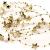 Schnoschi 2m Gold Sterne Perlenband Perlenkette Perlengirlande Perlenschnur Weihnachten Advent Deko Perlen Tischdeko Meterware - 1
